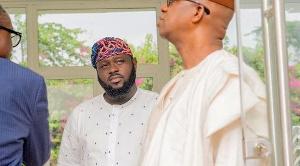 Governor Abiodun and his aide Abidemi Rufai