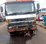 The accident involved a motorcycle, a truck and a Toyota Jeep