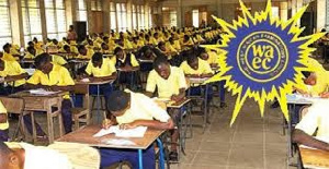 WASSCE candidates sitting for an exams