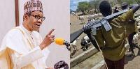 Buhari and a herdsman with AK-47