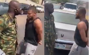 Chikelu Ofoedu confronting the military man