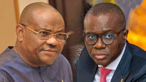 Rivers State Governor, Nyesom Wike and Lagos State Governor Babajide Sanwo-Olu