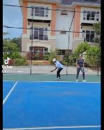 Regina Daniels shows off impressive tennis skills with her husband