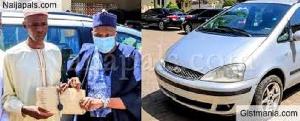 Dahiru Buba receives a cash price and car for supporting president Buhari