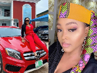 Mercy Aigbe and her Mercedes Benz