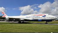 Retired British Airways Boeing 747 plane