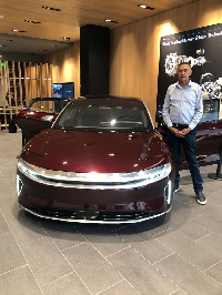 Ben Murray-Bruce, Chairman of Silverbird Group in a post with his new car