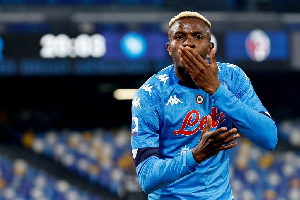 Victor Osimhen playing for Napoli