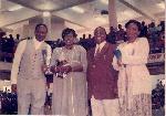 David Oyedepo and his mentor, Arch Bishop Benson idahosa