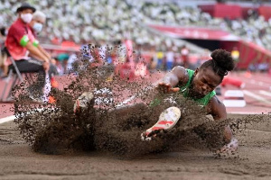 Nigerian long jumper Ese Brume
