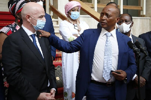 FIFA boss, Gianni Infantino and CAF supremo, Patrice Motsepe