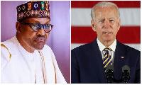 File photo: President Muhammadu Buhari, President Joe Biden