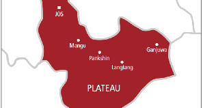A map of Plateau State