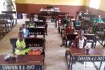 School children having lunch