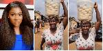 Mercy Johnson hawks bowl of fufu on movie set, prays for hardworking mums