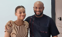 Yul Edochie with his daughter