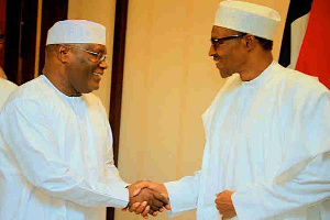 former Vice President Atiku Abubakar and Muhammadu Buhari