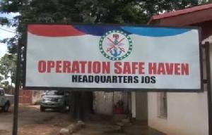 Operation Safe Haven sign post