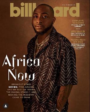 Davido on the Billboard Cover