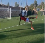 Odion Ighalo's 10-year-old son scores stunning bicycle kick while training with his dad