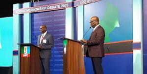 Debate between Obaseki and Ize-Iyamu