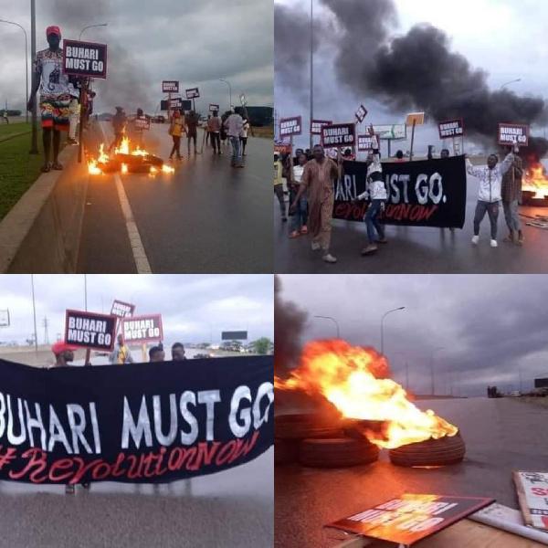 Protest at Abuja demanding Buhari must go