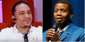 File photo: Daddy Freeze and Pastor Enoch Adeboye