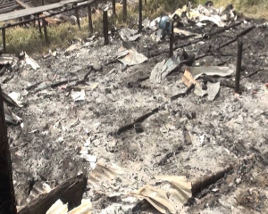 15 houses razed in the midnight attack