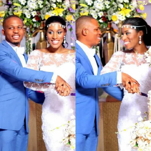 Rapper, Naeto C with his wife, Nicole Chikwe