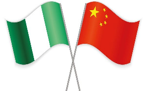 Nigeria and China's flag