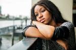 A sad black woman