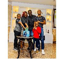 Funke Akindele's husband, JJC SKillz's birthday picture