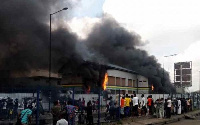 The burnt Station is in Apapa Iganmu