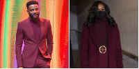 Ebuka compares his outfit to that of Michelle Obama