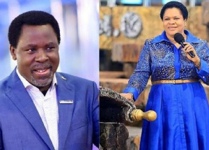 The late Prophet T.B Joshua and his wife, Evelyn Joshua