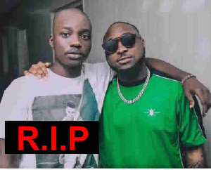 Davido with the late Fortune