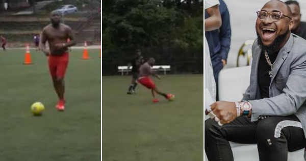 Video of Davido showing off football skills during match in Atlanta goes  viral