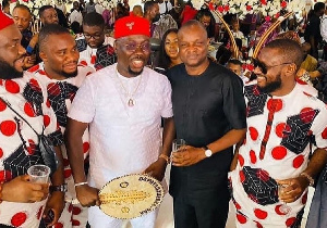 Popular businessman, Obi Cubana and his guests at the funeral of his late mother