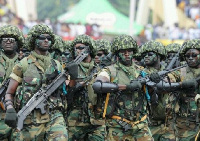 Soldiers from Ghana's armed forces