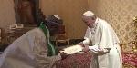 Nigerian Ambassador to the Vatican City, Paul Oga Adikwu and Pope Francis