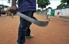 Armed man with a machete