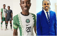 Nwankwo Kanu and models for the jersey