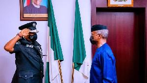 Acting Inspector General of Police (IGP) Usman Alkali Baba and Vice President, Osibanjo