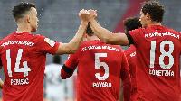 Bayern beat Frankfurt 5-2