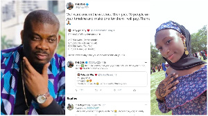 Don Jazzy, Music Producer and Young lady he assisted
