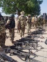 Troops kill 22 terrorists, destroy 2 gun trucks, recover arms in Borno