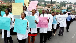 Protesting resident doctors