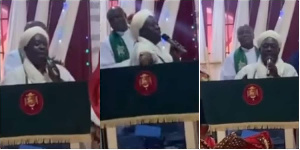 The Chief Imam prayed with Christians in a church in the Ikorodu area of Lagos