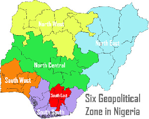 A map of Nigeria