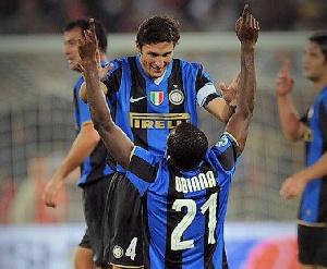 Former Nigerian striker, Victor Obinna Nsofor in Inter Milan